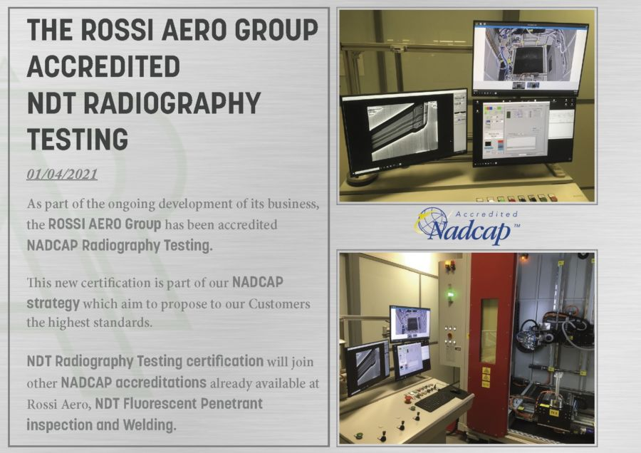 The ROSSI AERO Group accredited NDT Radiography testing