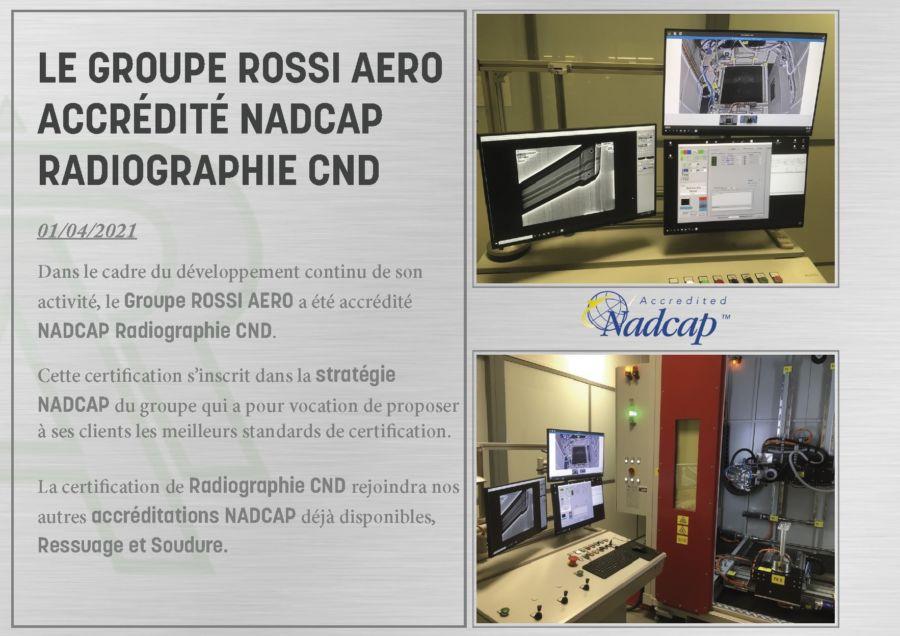 Le groupe ROSSI AERO accrédité NADCAP Radiographie CND