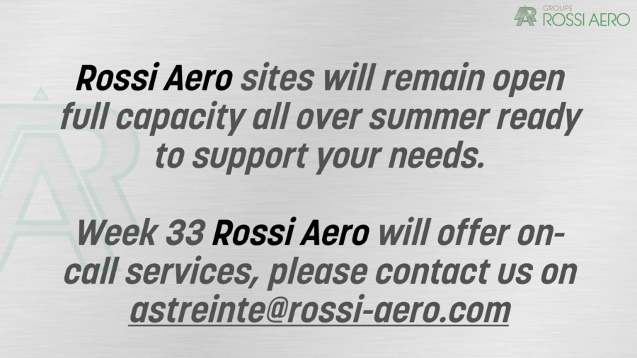 Rossi Aero sites will remain open during summer